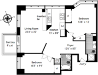 floorplan for 61 West 62nd Street #20E