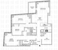 floorplan for 164 Kent Avenue #5X