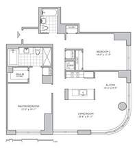 floorplan for 306 Gold Street #23C