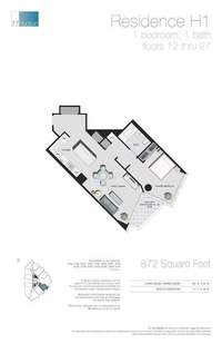 floorplan for 77 - Hudson Street #1408