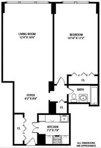 floorplan for 7 East 14th Street #927