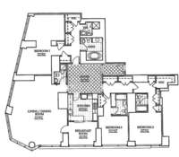 floorplan for 10 West Street #PH1C