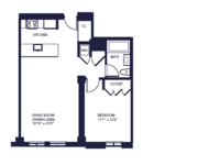 floorplan for 85 Adams Street #11C