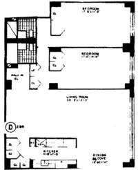 floorplan for 401 East 74th Street #7D