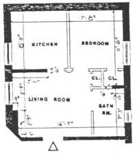 floorplan for 27 Commerce Street #3B