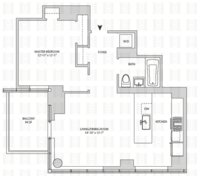 floorplan for 164 Kent Avenue #12F