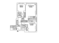 floorplan for 2 Columbus Avenue #10C