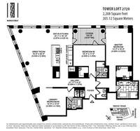 floorplan for 101 Warren Street #2720