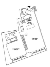 floorplan for 21 Astor Place #6F
