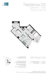 floorplan for 77 - Hudson Street #4007