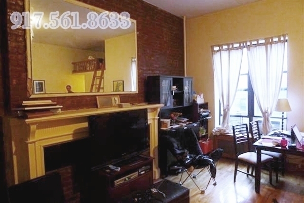 Large Renovated Two bedroom with Fireplace, Lofts, Lots of Light, High Ceilings Brick-wall