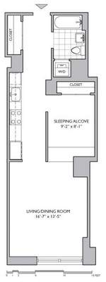 floorplan for 306 Gold Street #3E