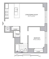 floorplan for 306 Gold Street #3B