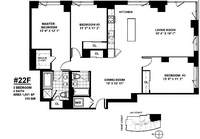 floorplan for 100 Jay Street #22F