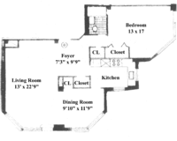 floorplan for 200 East 36th Street #19B
