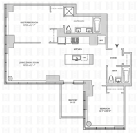 floorplan for 164 Kent Avenue #22L