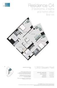 floorplan for 77 - Hudson Street #4403