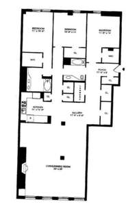 floorplan for 35 North Moore Street #6B