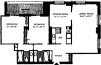 floorplan for 188 East 70th Street #9C