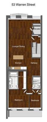 floorplan for 53 Warren Street #4THFLOOR