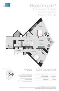 floorplan for 77 - Hudson Street #2806