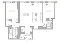 floorplan for 101 Warren Street #1530