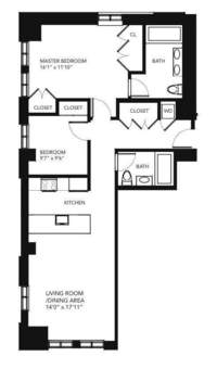 floorplan for 85 Adams Street #8A