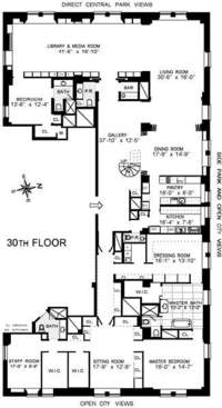 floorplan for 795 Fifth Avenue #3001-012