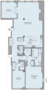 floorplan for 32 West 18th Street #11A