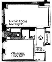 floorplan for 205 East 78th Street #12C