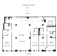 floorplan for 252 Seventh Avenue #11UV