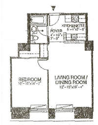 floorplan for 150 Nassau Street #6C