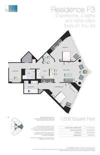 floorplan for 77 - Hudson Street #3406