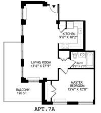 floorplan for 2021 First Avenue #7A