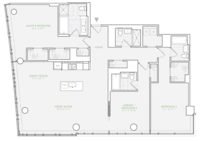 floorplan for 1 River Terrace #89H