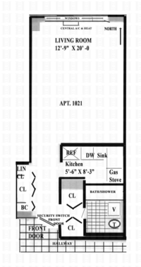 floorplan for 7 East 14th Street #1021
