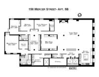 floorplan for 158 Mercer Street #5B