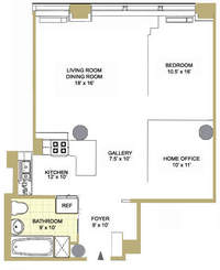 floorplan for 252 Seventh Avenue #6Z