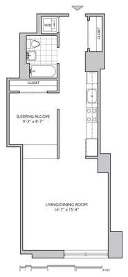 floorplan for 306 Gold Street #4G