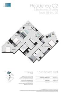 floorplan for 77 - Hudson Street #3003