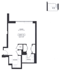 floorplan for 50 West 15th Street #2A