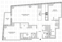 floorplan for 164 Kent Avenue #23P