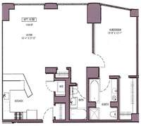 floorplan for 130 West 19th Street #6B