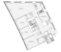 floorplan for 1 River Terrace #14R