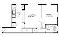 floorplan for 637 41st Street #4D