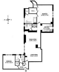 floorplan for 755 Park Avenue #9K