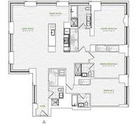 floorplan for 1 River Terrace #4L
