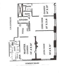 floorplan for 781 Fifth Avenue #905