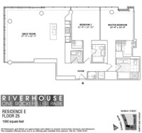 floorplan for 1 River Terrace #25E