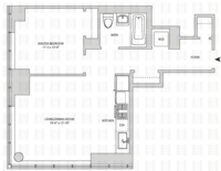 floorplan for 164 Kent Avenue #6E